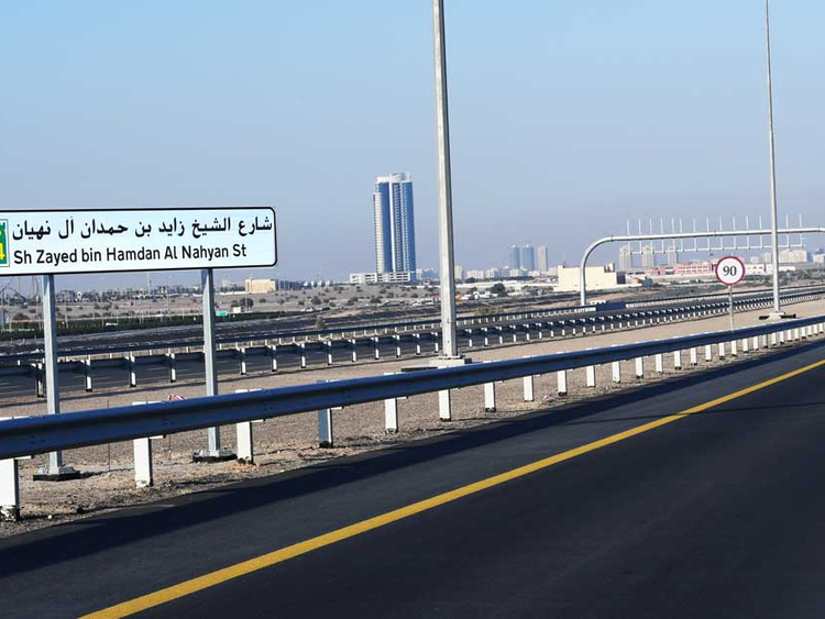 Speed Limit On Shaikh Zayed Bin Hamdan Al Nahyan Road Increased Transport Gulf News