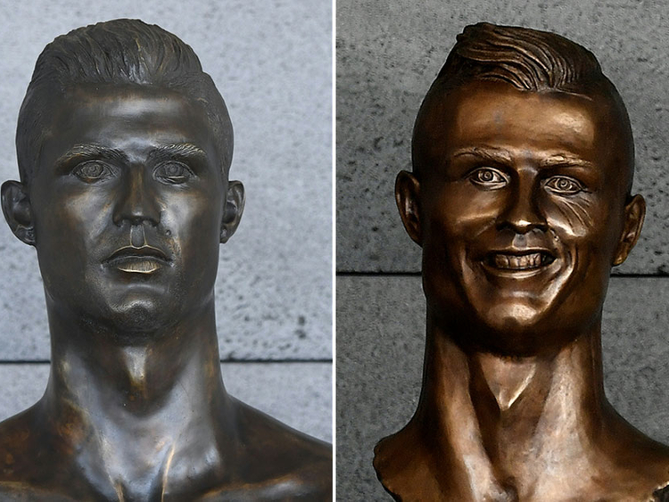 Image result for Ronaldo statue