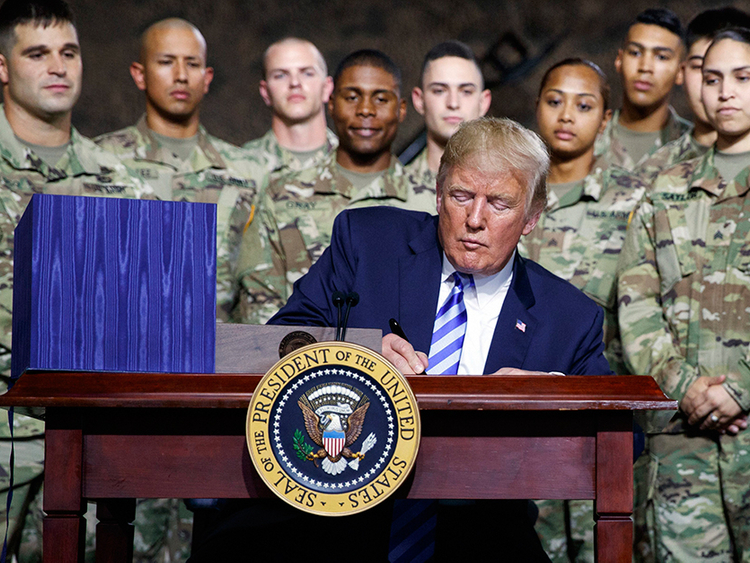 Trump signs $717b annual defence policy bill into law