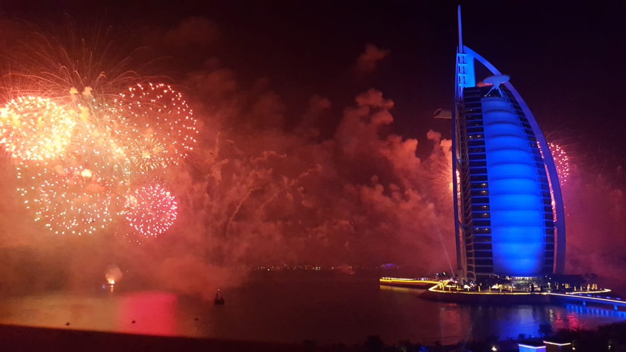2019 fireworks by the Burj Al Arab