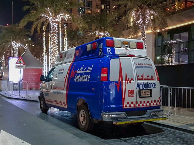 Dubai Ambulance attends to 604 patients on New Years