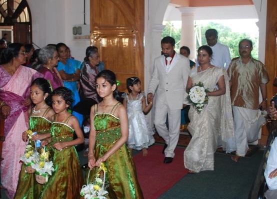 Evangeline on her wedding day