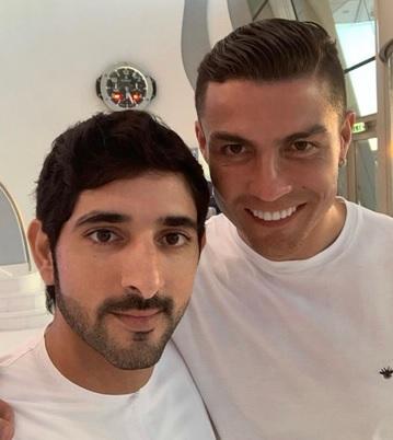 Shaikh Hamdan and Cristiano Ronaldo in Dubai