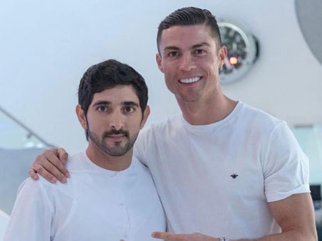 Shaikh Hamdan and Cristiano Ronaldo