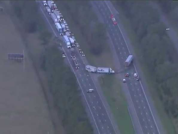 The crash occurred on Interstate 75 near Gainesville