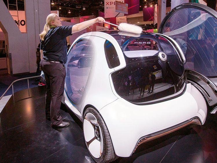 Mercedes-Benz Smart Vision EQ concept car