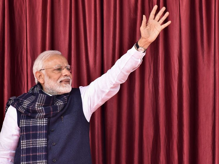 Narendra Modi waves