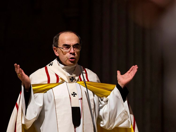 French Cardinal Philippe Barbarin, Archbishop of Lyon