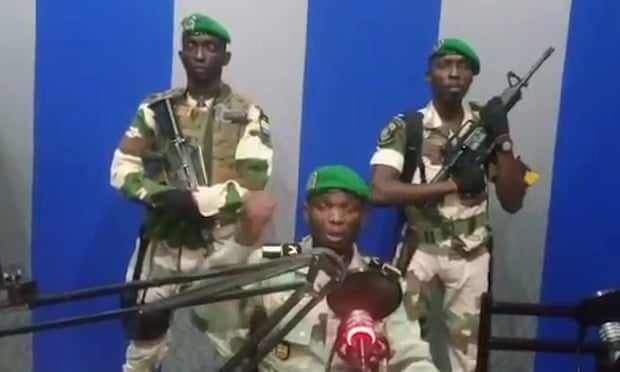 Gabonese soldiers announce coup 091
