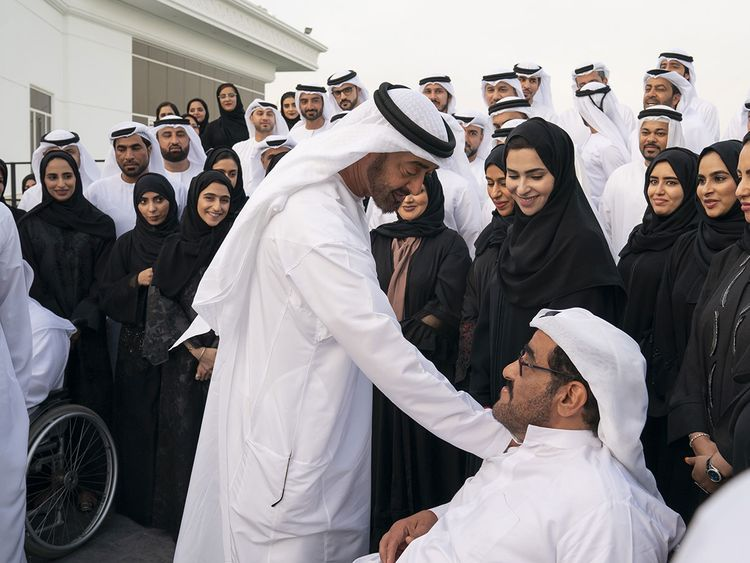 Mohammad receives the Special Olympics committee