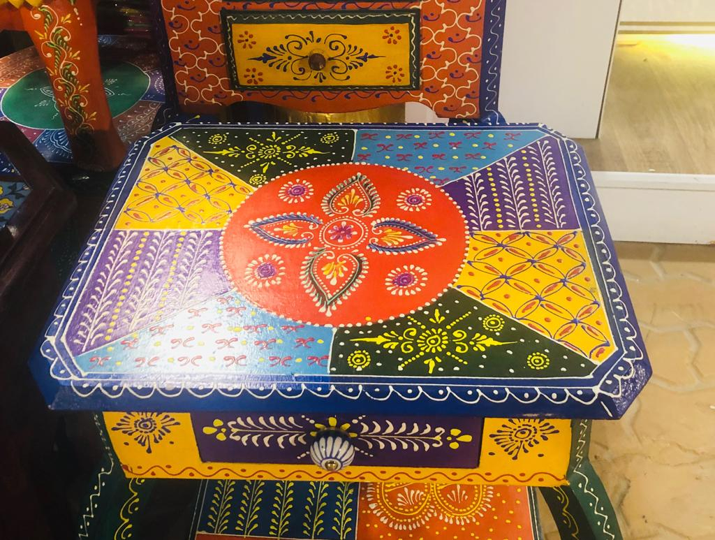 Rajasthani art on furniture