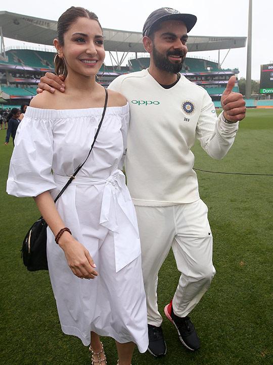 Virat Kohli along with his wife Anushka