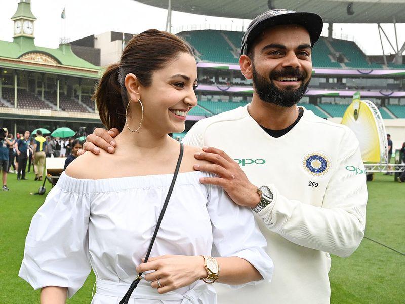 Virat Kolhi and his wife Anushka Sharma