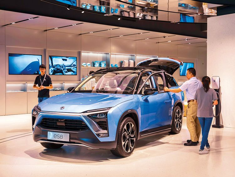 A NIO sport utility vehicle