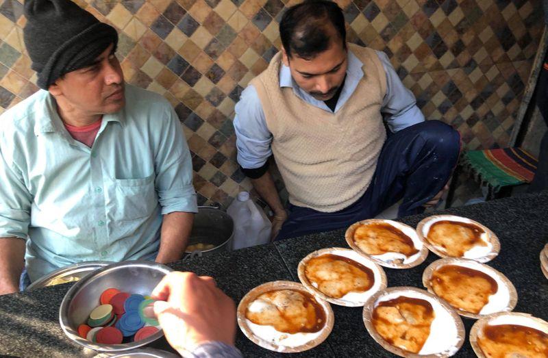 Dahi Bhalla from Natraj Cafe in Chandni Chowk