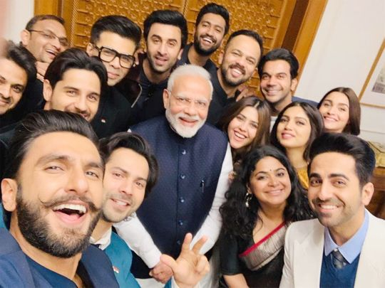 The Bollywood team with Prime Minister Narendra Modi