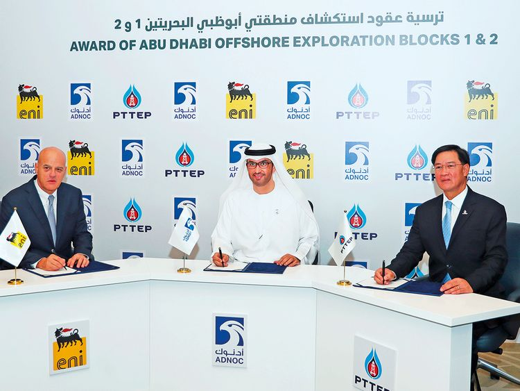 Adnoc awards Eni and PTTEP consortium two exploration blocks