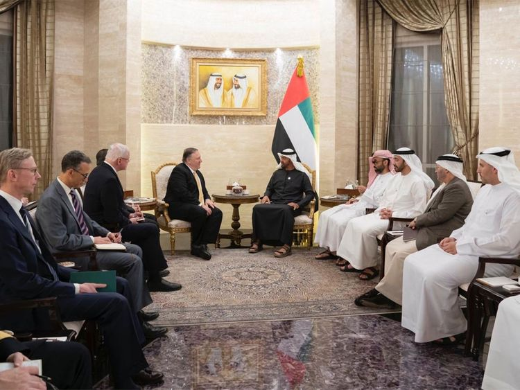 Shaikh Mohammad Bin Zayed receives Mike Pompeo Jan 12