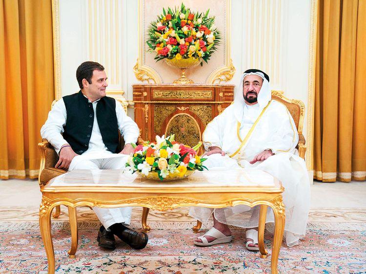 Dr. Shaikh Sultan and Rahul Gandhi