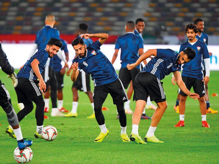 The UAE players participate