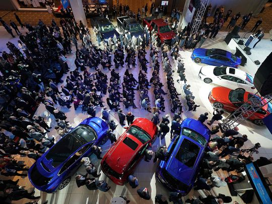 The NAIAS Car of the Year press conference