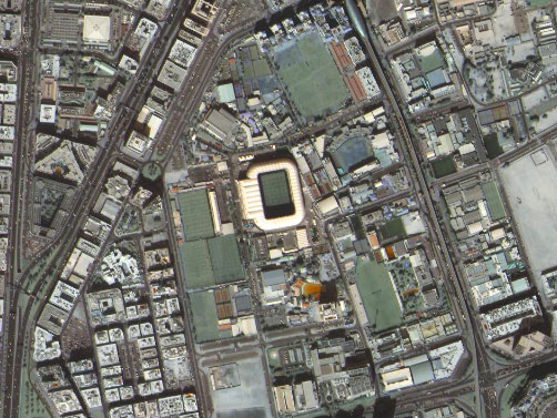 Al Nasr stadium from space