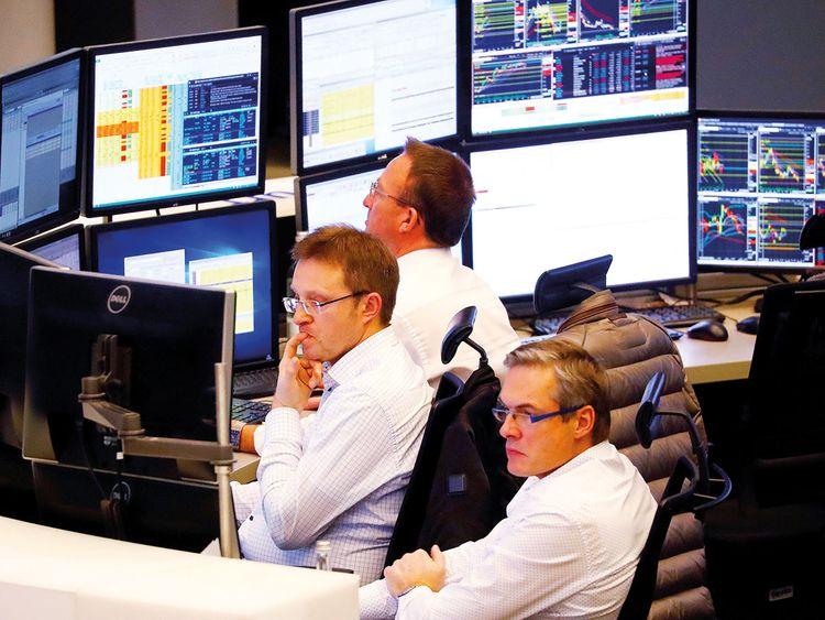 Traders look pensive