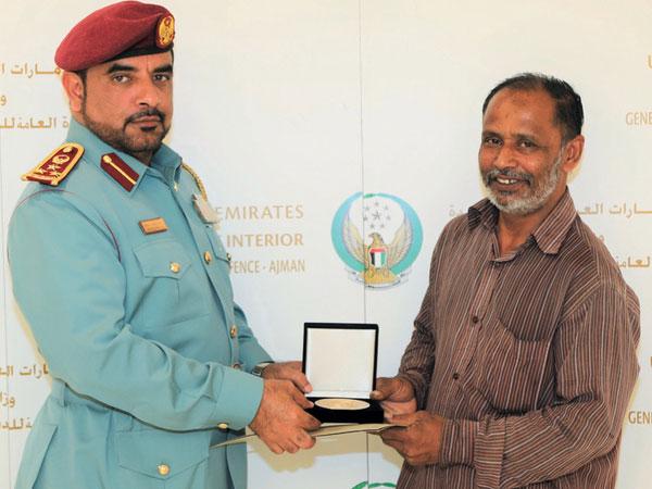 Ajman Police honour man