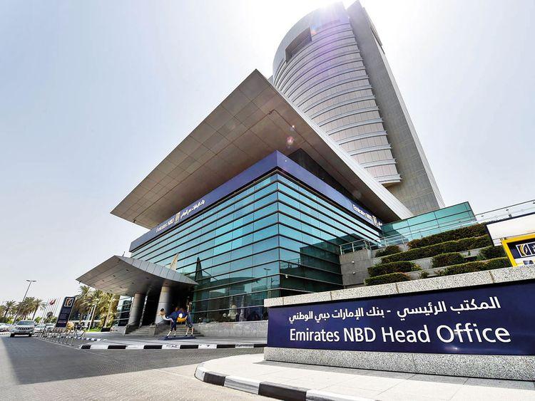 Emirates NBD Head Office at Baniyas street in Dubai