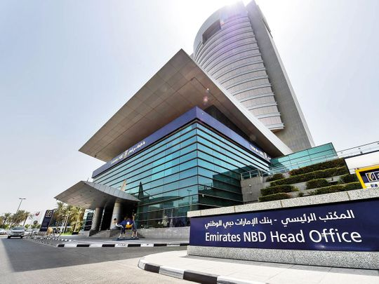 Emirates NBD Head Office at Baniyas street in Dubai