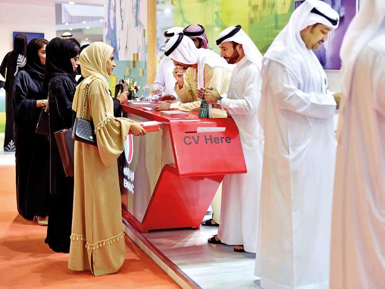 A career fair in Dubai