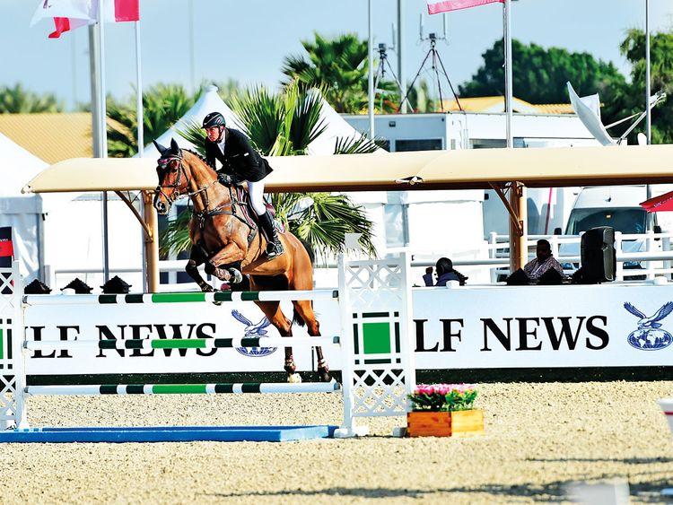 Jockey Jorg Naeve, riding Be Aperle Va