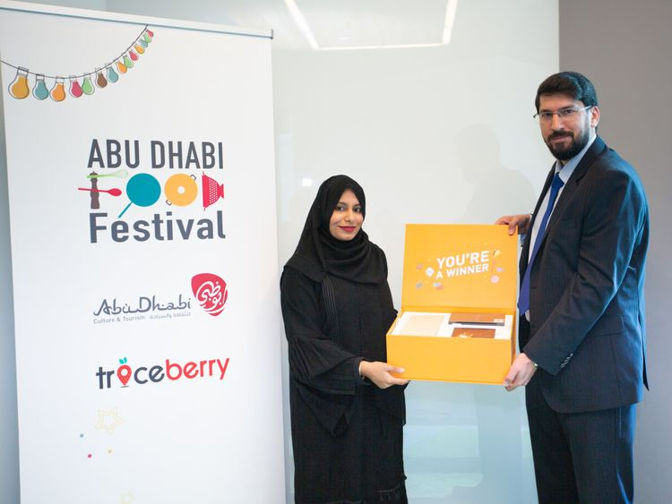 NAT_190117-Prize-Winner-Sadaf-Rehan-with-Traceberry-s-Sari-Alabdulrazzak-1547726756233