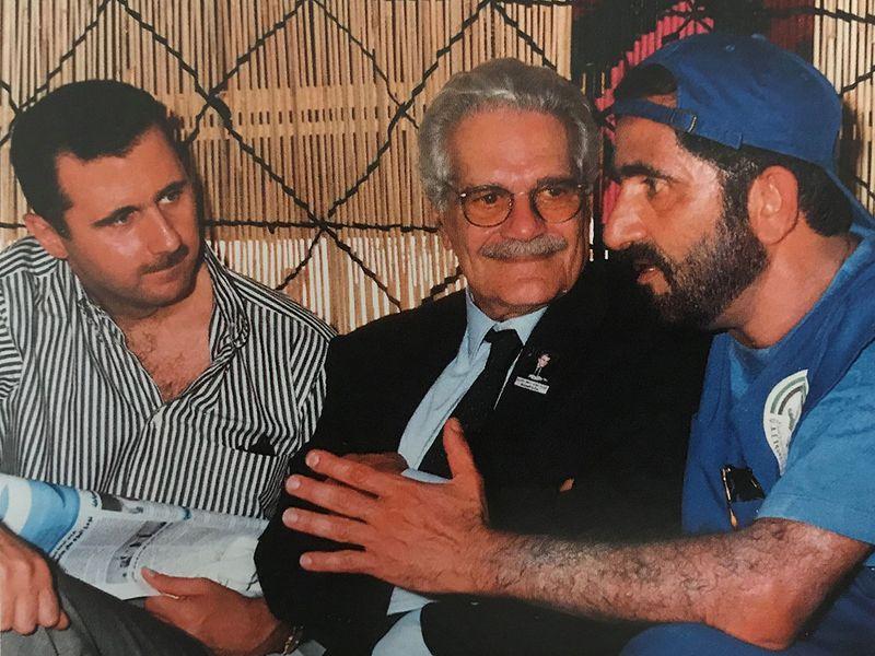 Shaikh Mohammad Bin Rashid Al Maktoum, with Bashar Al Assad