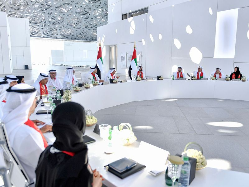 Shaikh Mohammad during a Cabinet meeting