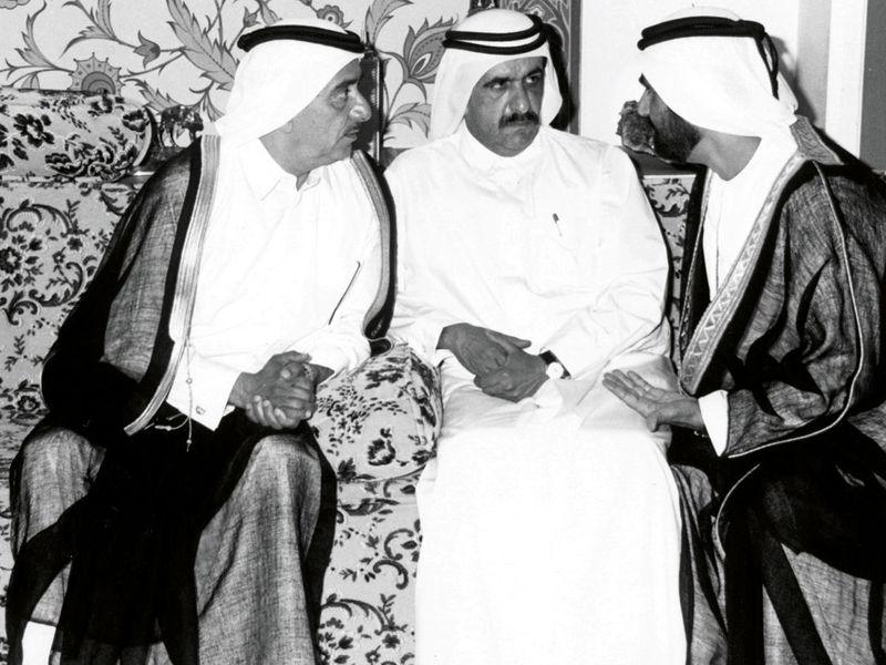 Shaikh Mohammad with borthers
