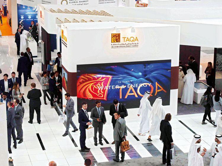 Visitors tour the Taqa Pavilion