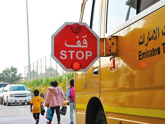 Watch out for the stop signal of school bus or pay Dh1,000 fine in Abu Dhabi