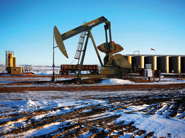 An oil pump in North Dakota