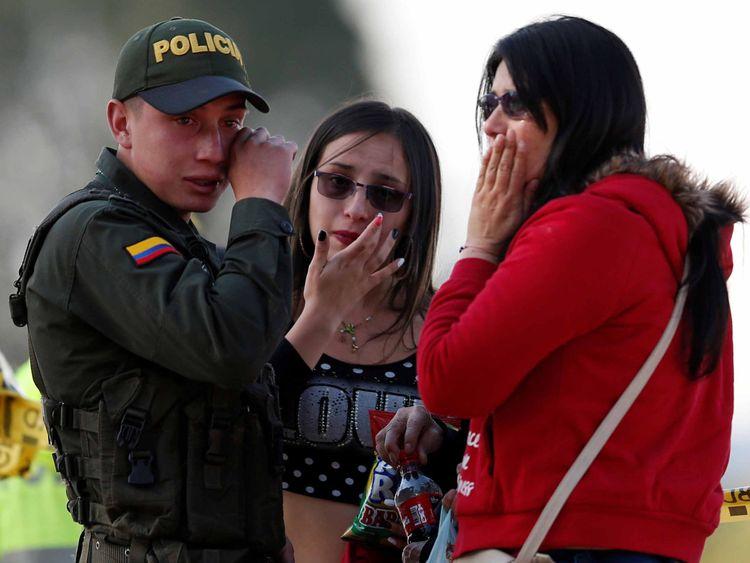 Bogota Columbia blast January 17