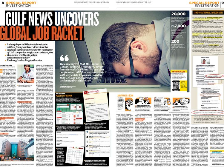 Job scam exposé kicks up a storm | Uae – Gulf News