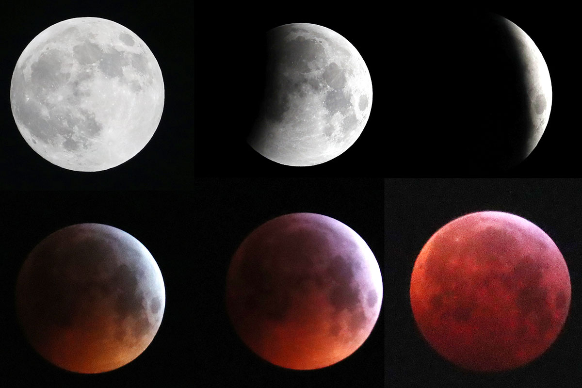 A combination photo shows the moon