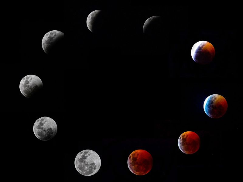 A composite photo shows all the phases