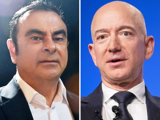Carlos Ghosn and Jeff Bezos.