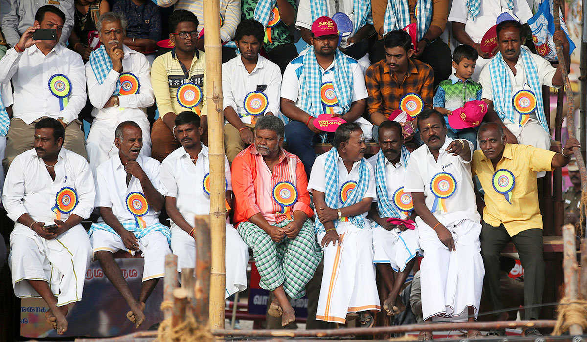 Members of Jallikattu organising committee attend the Jallikattu