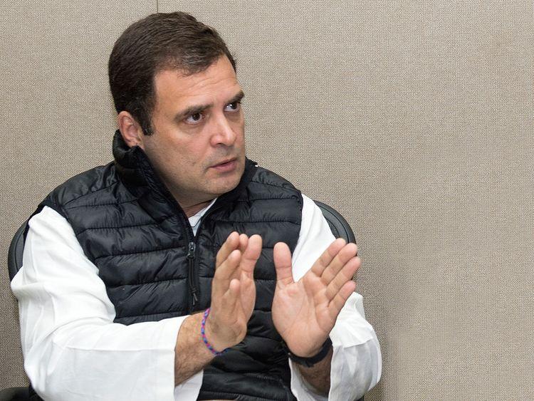Rahul Gandhi in dubai