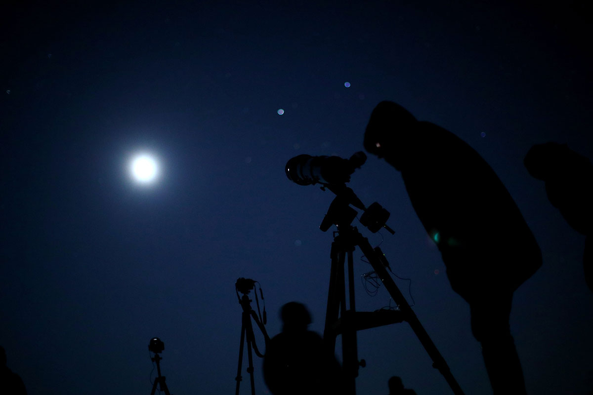 total lunar eclipse in Vienna