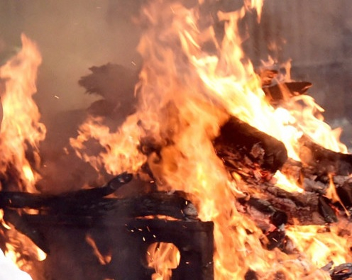 File photo of a funeral pyre in India 0909