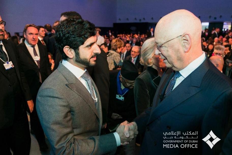 Shaikh Hamdan with Klaus Schwab 0212