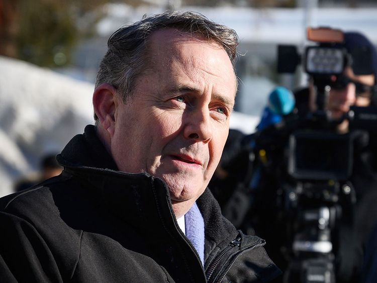 Britain's International Trade Secretary Liam Fox